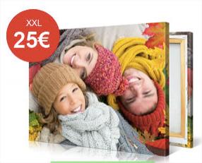 Toile personnalisable 60x60cm à 20€, 100x75cm