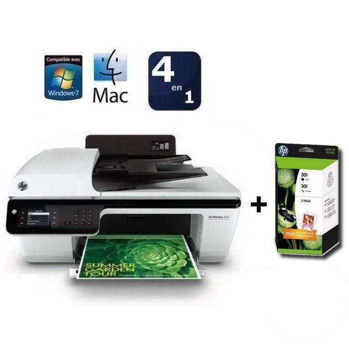 Imprimante HP Officejet 2620 + Cartouche HP 301 Content Value Pack (avec ODR de 20€)