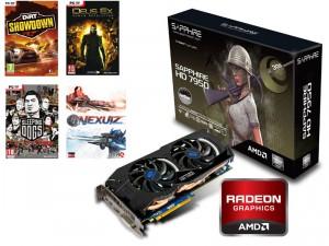 Sapphire Radeon HD7950 OC, 3 Go + Pack de 4 jeux