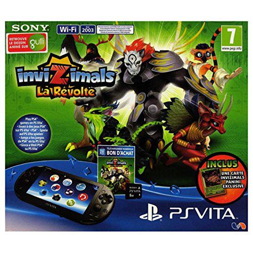 Pack Console Sony PS Vita + Jeu Invizimals + Carte mémoire 8Go