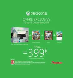 Pack Xbox One Assassin's Creed Unity + Black Flag + Sunset Overdrive + GTA 5 + Carte 25€