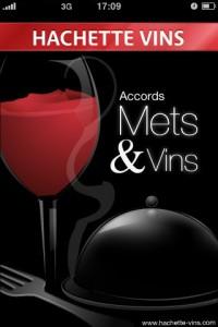 Application iPhone Hachette Accords Mets & Vins gratuite