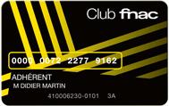 Carte Club Fnac gratuite pendant 3 ans (pour les possesseurs d'AMEX)