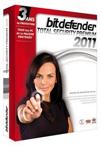 BitDefender Total Security Premium 2011 version 3 postes 3 ans de mise à jour