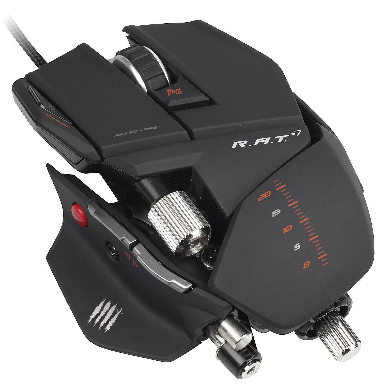 Souris Filaire Gaming Mad Catz R.A.T.7 pour PC et MAC - Noir Mat