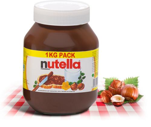 pot de 1kg de Nutella (50% sur la carte)
