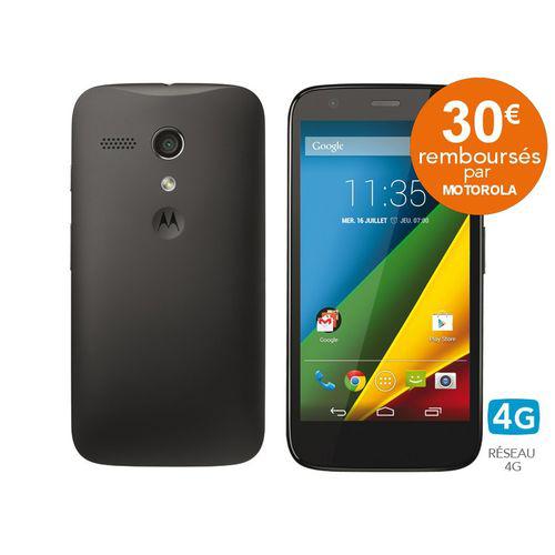 """Smarpthone 4,5"""" Moto G 4G noir (ODR 30€)"""