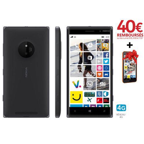 Smartphone Nokia Lumia 830 (avec ODR 40€ + Nokia 530 offert)