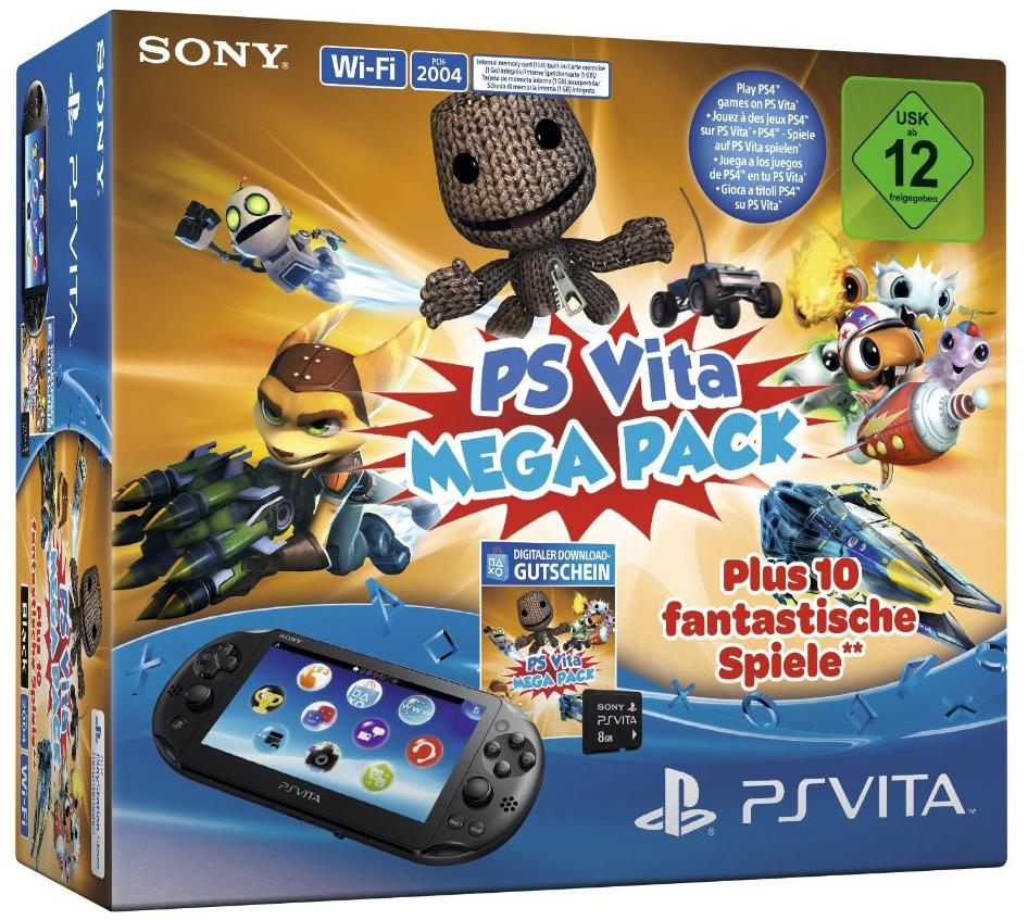 Console Playstation Vita Wifi + Kids Pack (10 Jeux à télécharger) + Carte Mémoire 8 Go