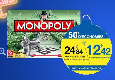 Monopoly Classique (Avec 50% sur la carte)