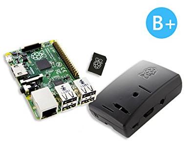 Kit Raspberry Pi Modele B+ (UK) avec Boitier et carte Micro SD Noobs