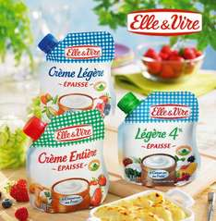 Crème épaisse en poche Elle & Vire (via shopmium et bon de réduction)