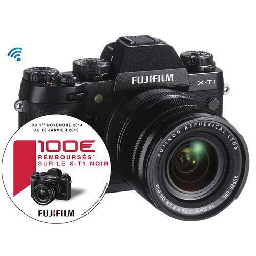 Appareil photo Fujifilm X-T1 Noir + Objectif XF 18-55MM F2.8-4 R LM OIS (100€ ODR)