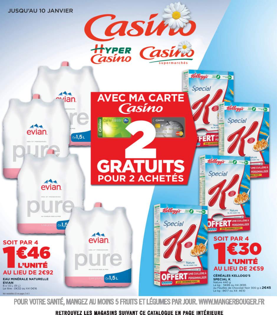 Lot de 4 packs Evian Pure  6x 1.5L (0.16€/L)