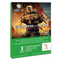 Xbox Live Gold 3 mois Xbox 360 + 1 mois Gears of War Judgment