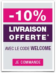 -10% sur votre première commande + livraison offerte dès 70€