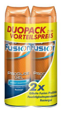 Lot de 2 gels à raser Gillette fusion Proglide
