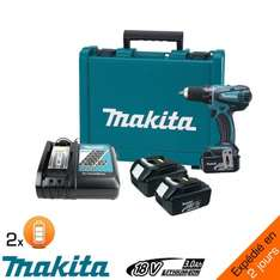 Perceuse makita PRO 18V moteur sans charbon à percussion + 2 batteries