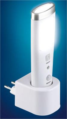 Lampe torche LED / Veilleuse sur détecteur de mouvement