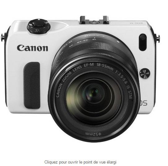 Appareil photo hybride Canon EOS M Kit + Objectif EF-M 18-55 mm f/3.5-5.6 IS STM