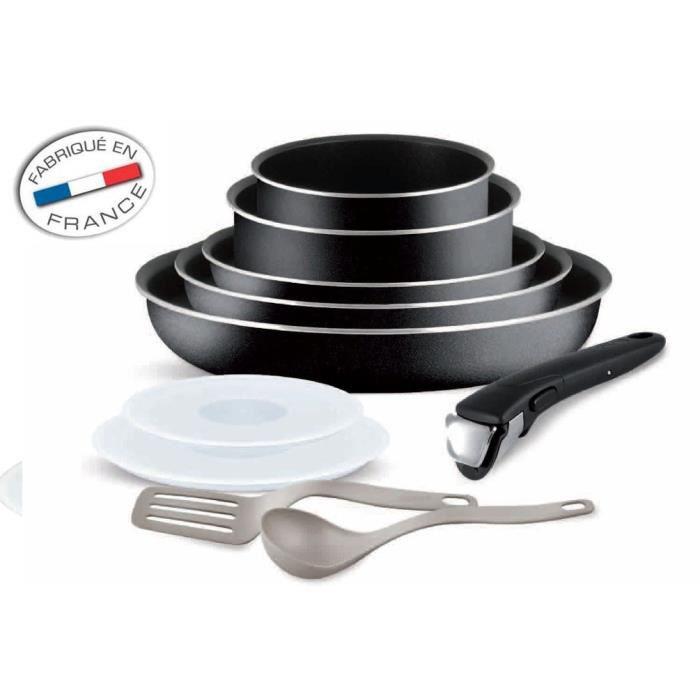 Batterie de cuisine Tefal ingenio5 Set de 10 Pièces noir