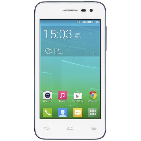 Smartphone Alcatel POP S3 4G blanc + 5 coques offertes (ODR de 30€)