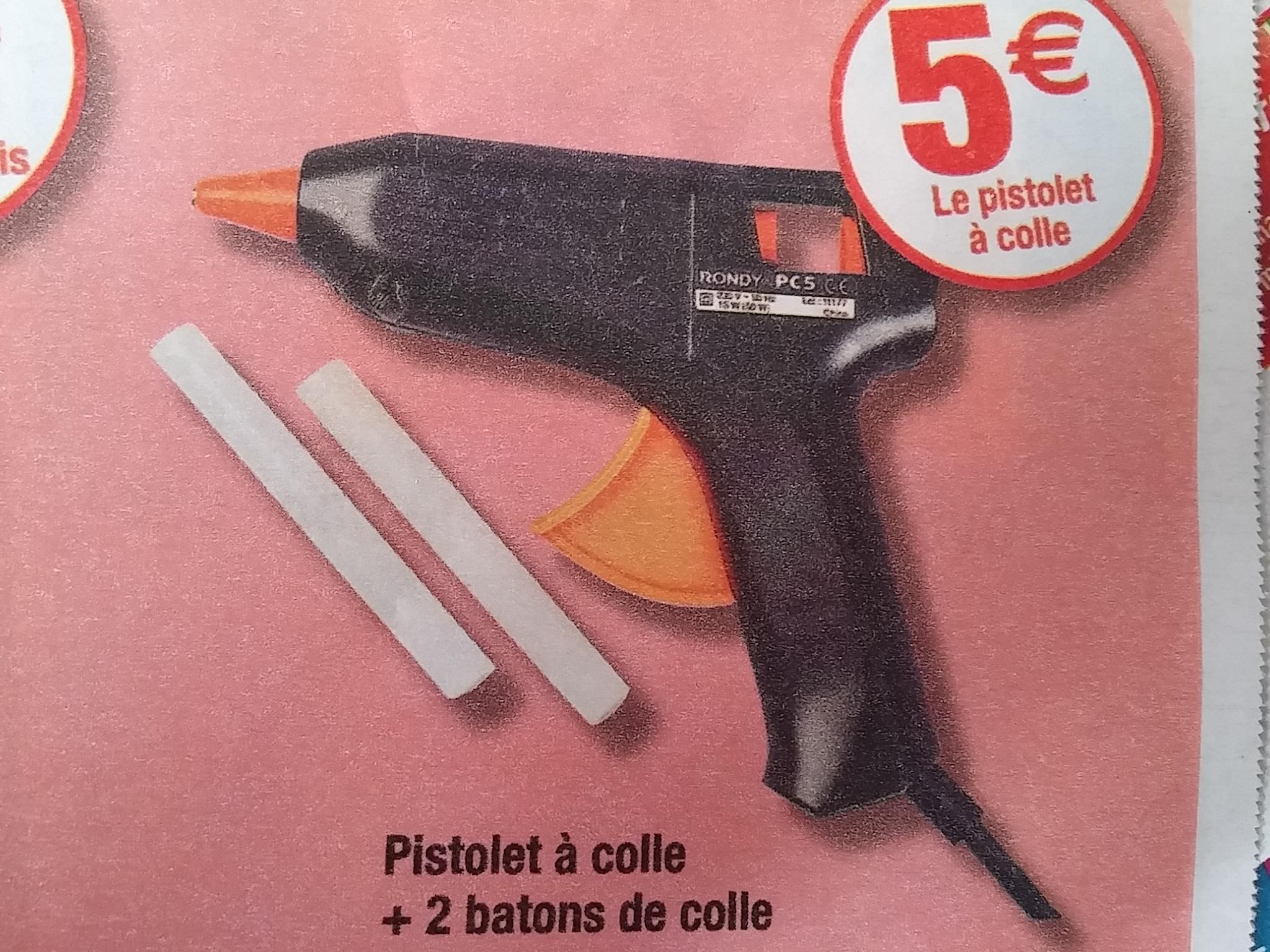 Pistolet à colle + 2 batons de colle