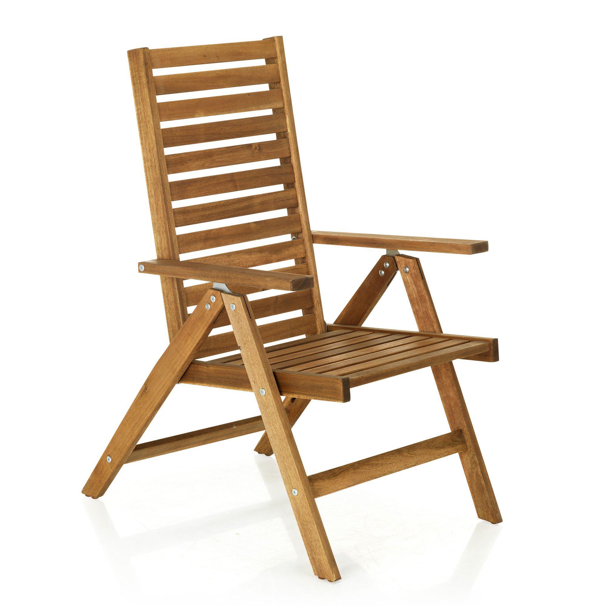 fauteuil de jardin en acacia Joana