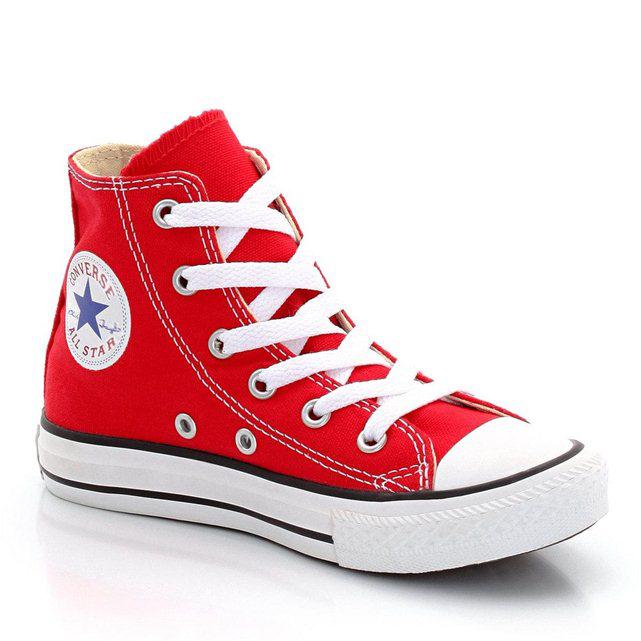 Chaussures Converse All Star Hi pour enfants - Rouge (33-34)