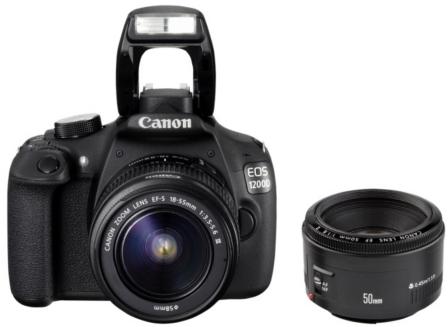 Reflex Canon EOS 1200D + Objectifs 18-55mm et 50mm (et autres, voir description)