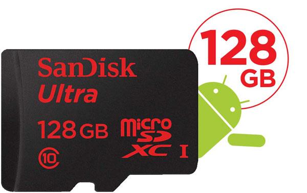Carte mémoire microSDXC SanDisk Ultra 128 Go Classe 10 UHS-I