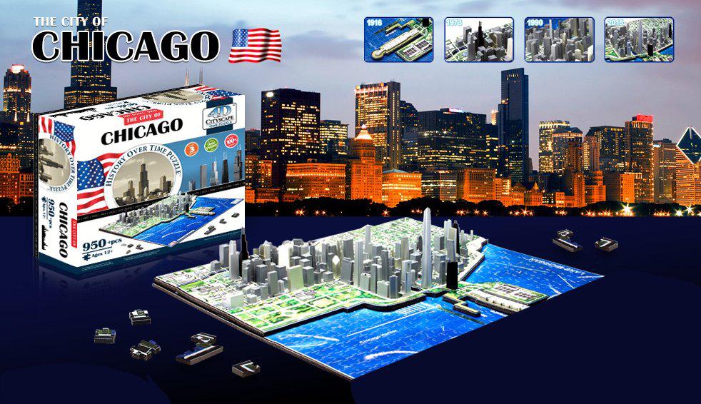 Puzzles 4D Cityscape (Chicago, Berlin, Toronto...)
