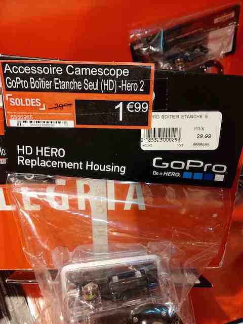 Boîtier étanche pour caméra GoPro Hero 2