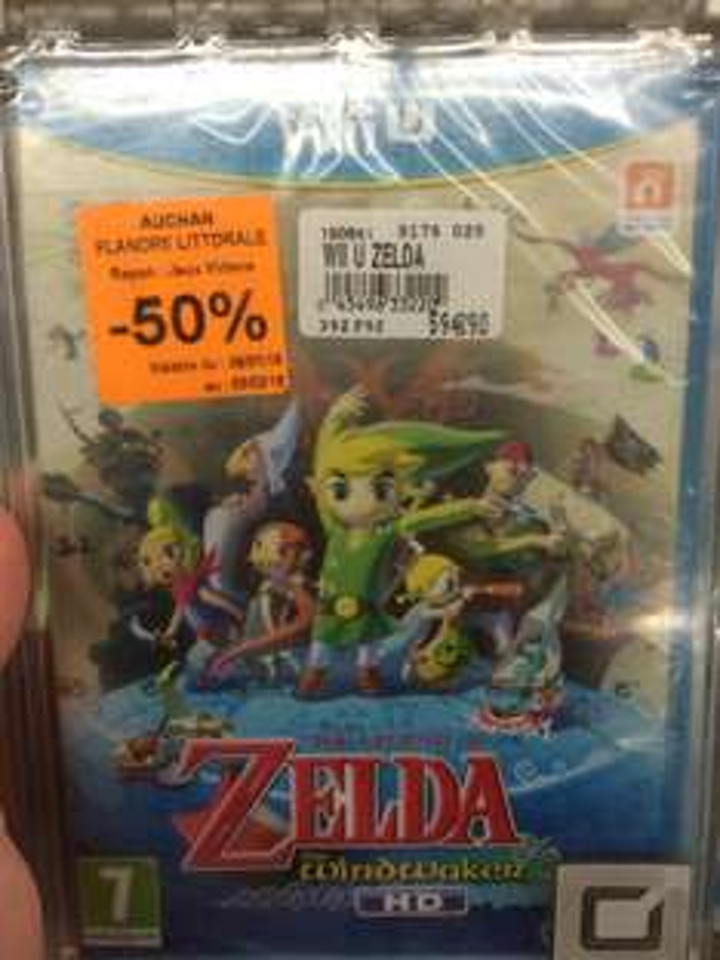 Jeu Zelda the Windwaker HD sur Wii U