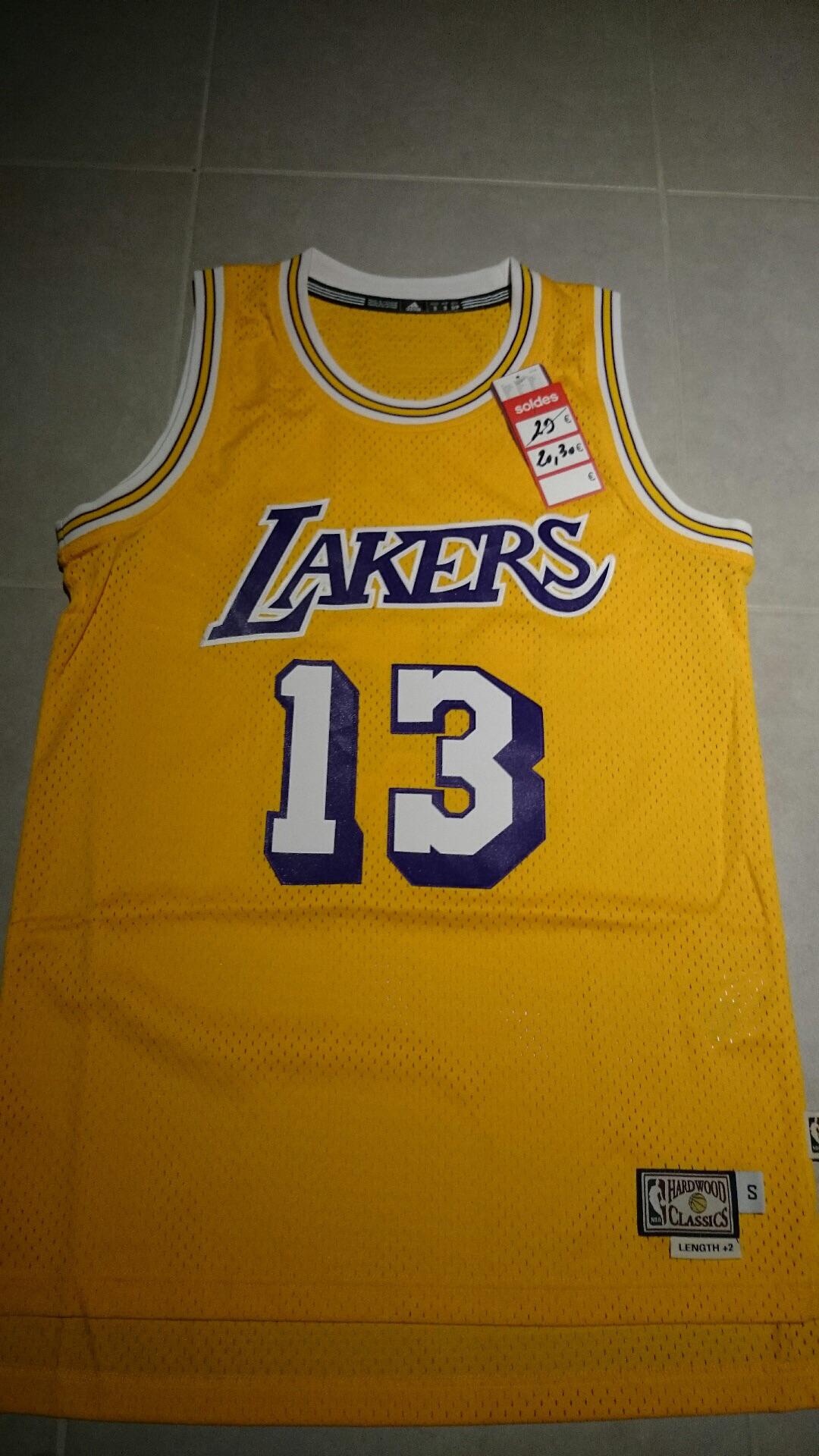 Maillot NBA Adidas swingman Chamberlain Lakers