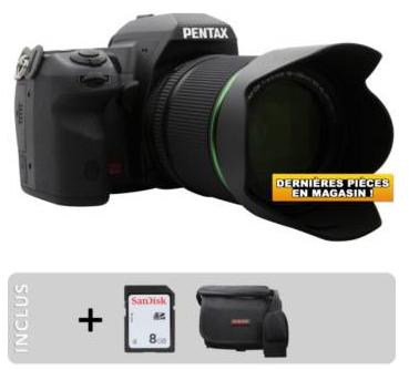 Appareil photo Reflex Pentax K-5 II + objectif 18-135mm WR + Sac + 8Go
