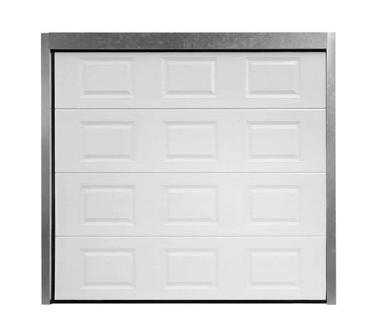 Porte de garage sectionnelle motoris e en acier h 200 cm l 300 cm - Porte de garage sectionnelle 200 300 ...