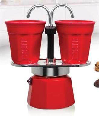 Cafeti re italienne bialetti mini express 2 tasses rouge ou orange dealab - Comment fonctionne cafetiere italienne ...