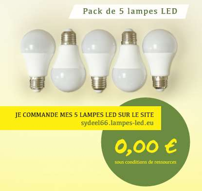 Kit de 5 ampoules led gratuites local po sous conditions - Ampoules led gratuites gouvernement ...