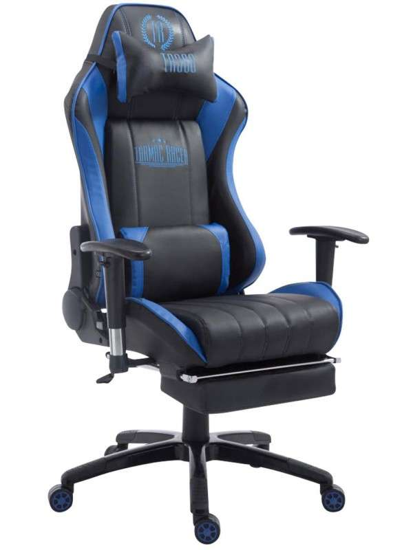 Chaise bureau gamer racing paal avec repose pied - Chaise avec repose pied ...