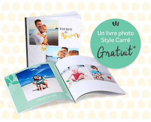 1 livre photo style carr livraison incluse. Black Bedroom Furniture Sets. Home Design Ideas