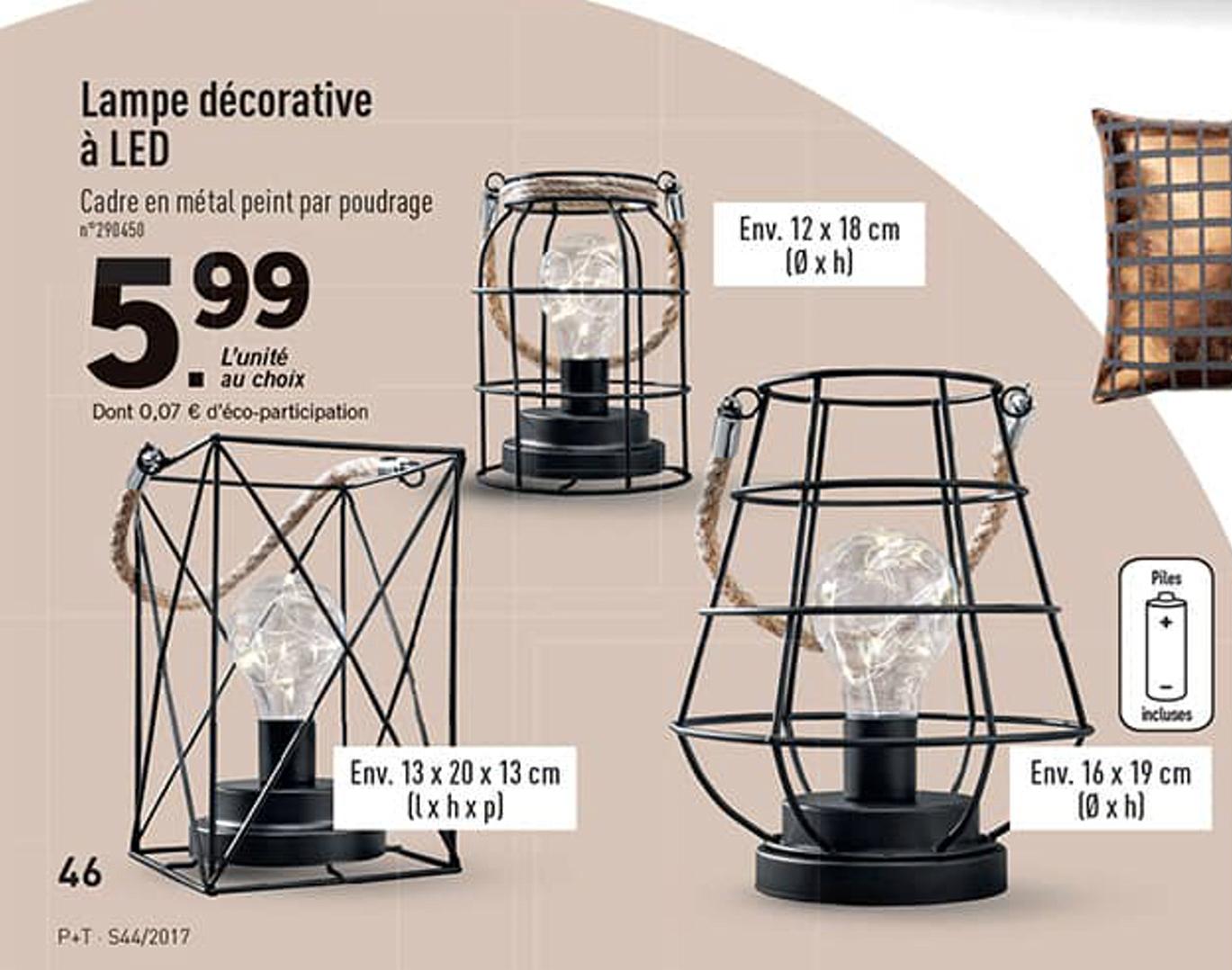 lampe d corative led plusieurs mod les. Black Bedroom Furniture Sets. Home Design Ideas