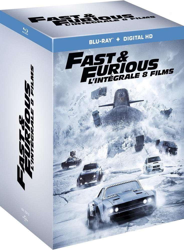 50 de r duction sur une s lection de coffrets vid o ex coffret blu ray fast and furious 1. Black Bedroom Furniture Sets. Home Design Ideas