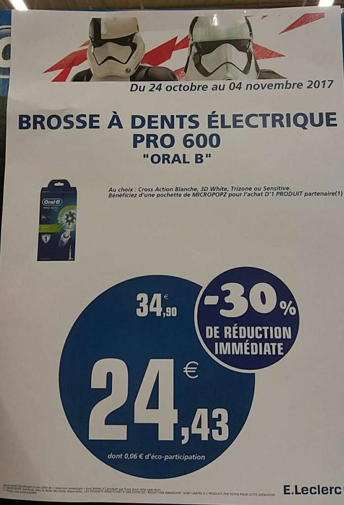 brosse dent lectrique oral b pro 600. Black Bedroom Furniture Sets. Home Design Ideas