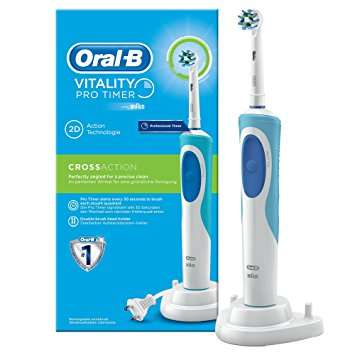 brosse dents lectrique oral b vitality pro timer via. Black Bedroom Furniture Sets. Home Design Ideas