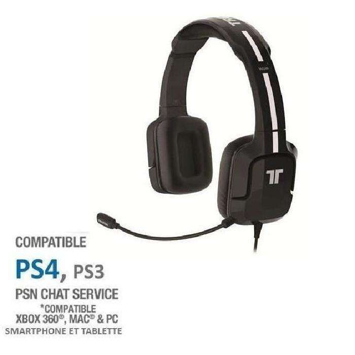 casque gaming tritton kunai noir pour ps vita ps3 ps4. Black Bedroom Furniture Sets. Home Design Ideas