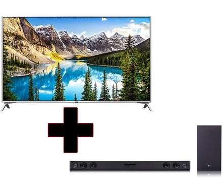 Pack tv 49 lg uj651v 4k uhd led smart tv barre de son 2 1lg sj3 via odr de 100 au - Barre de son carrefour ...