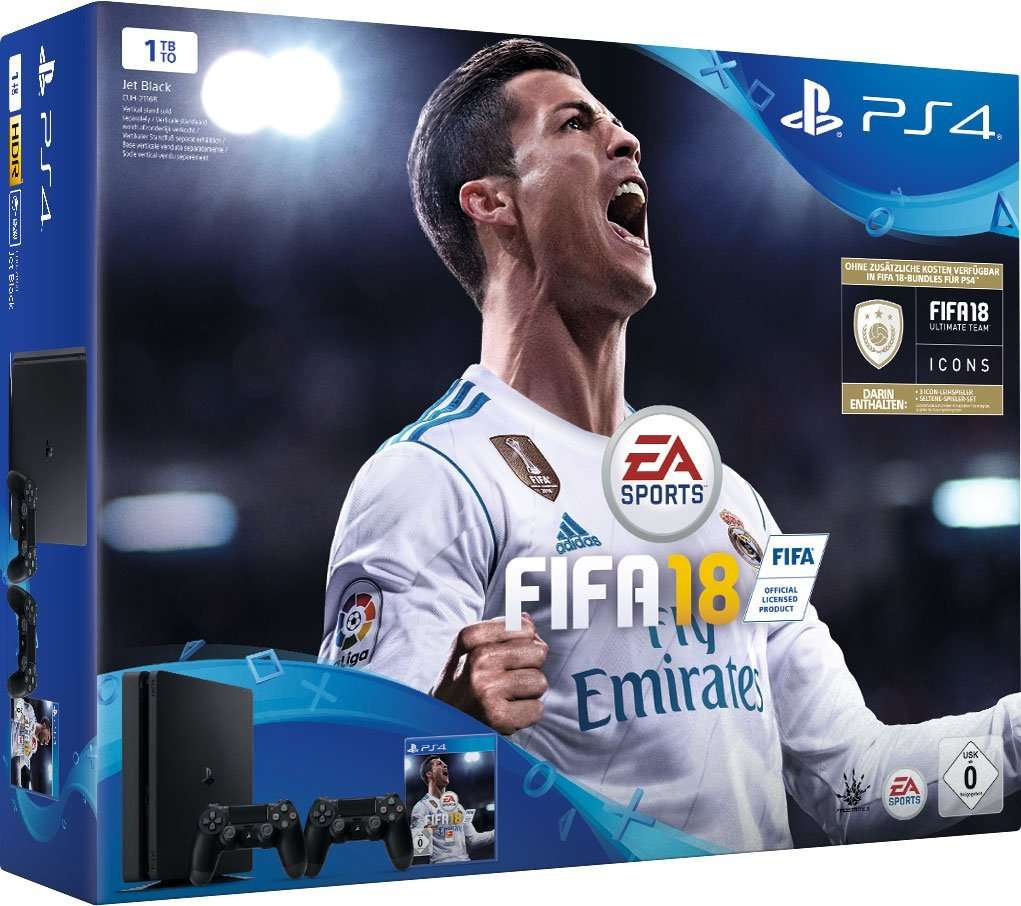 pack console sony ps4 1 to 2 me manette fifa 18. Black Bedroom Furniture Sets. Home Design Ideas