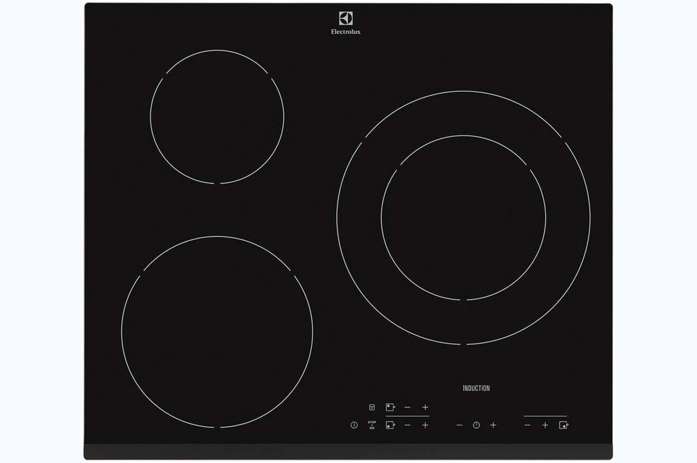 plaque induction electrolux e6223hfk noir 3 foyers. Black Bedroom Furniture Sets. Home Design Ideas
