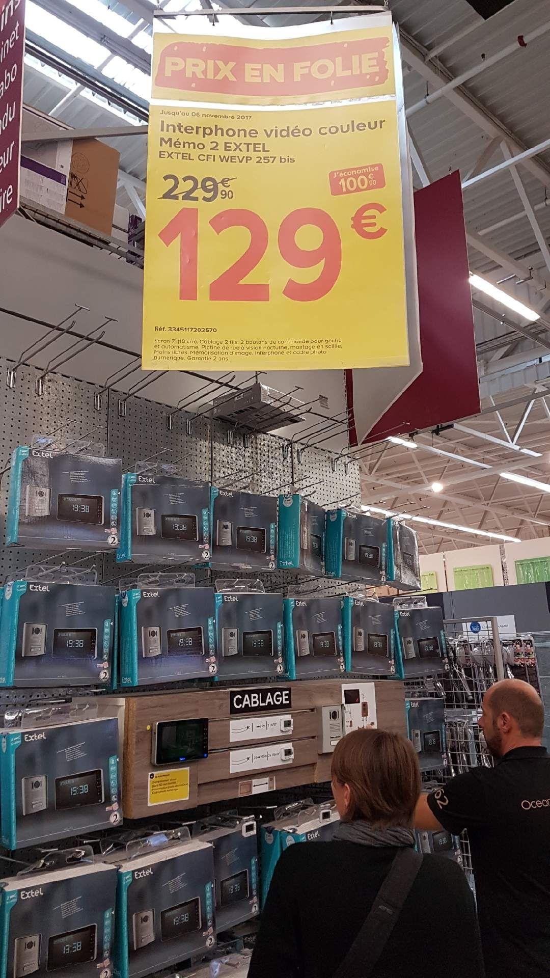 Interphone vidéo couleur Memo 2 Extel (Perpignan - 66) – Dealabs.com